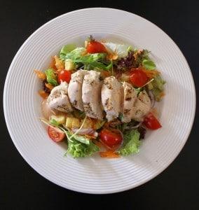 chicken salad eating healthy
